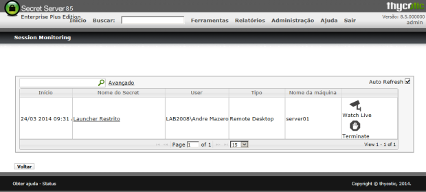 Novidade: Session Monitoring no Secret Server 8.5