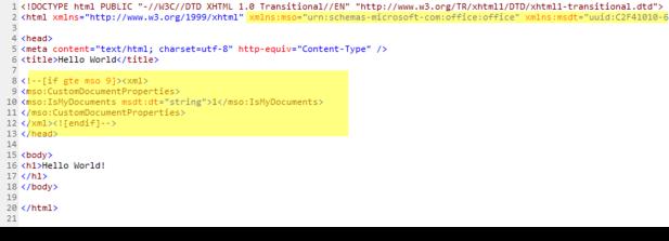 Arquivo HTML Modificado (com as modificações em destaque)