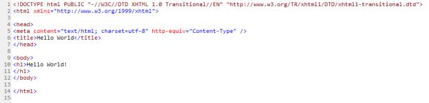 Arquivo HTML Original