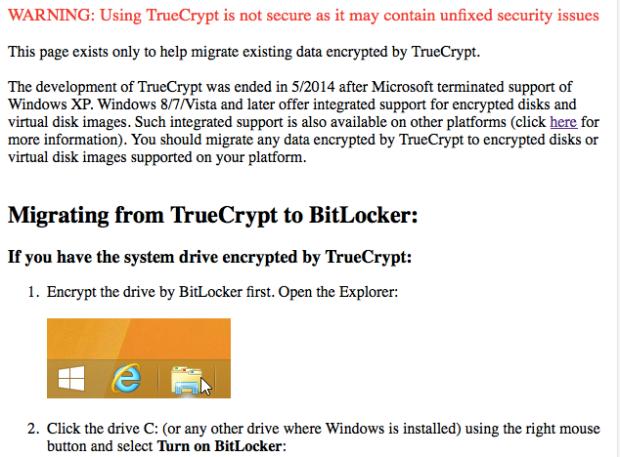 Página oficial do projeto TrueCrypt