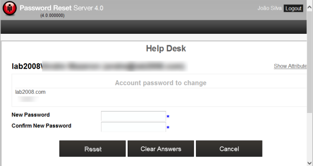 Password Reset Server - Service Desk