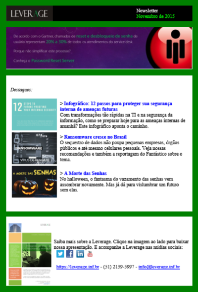 screenshot newsletter