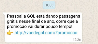 Golpe Gol no Whatsapp