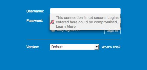 Firefox - Site não seguro